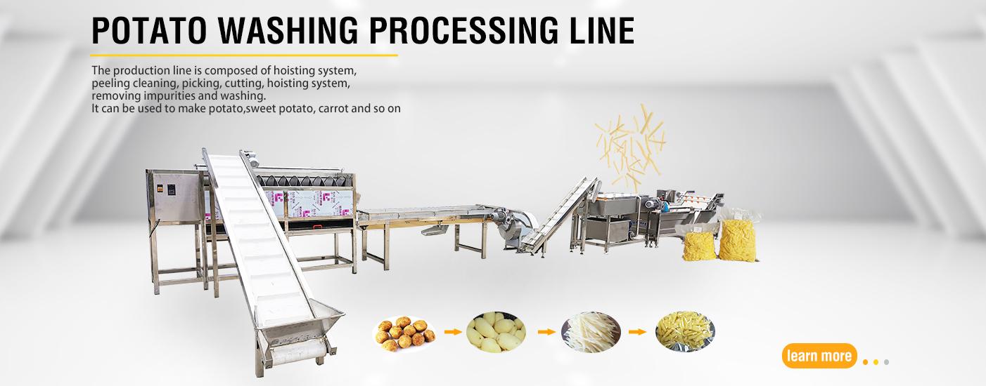 potato washing peeling production line