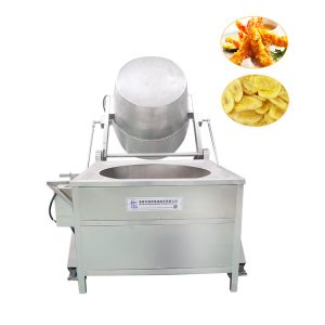 Stainless steel Semi-automatic tilting bucket frying machine