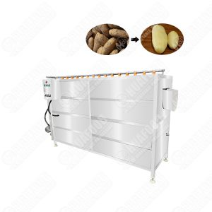 Heavy duty Potato Spiral peeling and cleaning machine