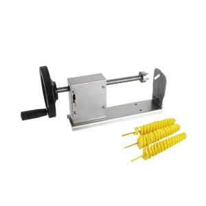 potato twister manual tower potato spiral potato chips cutting machine