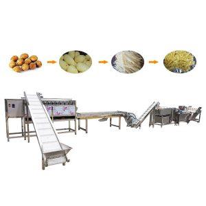 Potato washing peeling machine / processing line