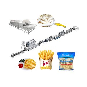 Automatic french fries processing line