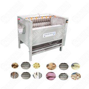 Industrial Brush Roller Potato Washing Machine Vegetable Peeling Machine