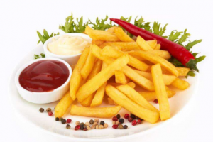 Oil control capacity of French fries, oil control capacity of potato chips