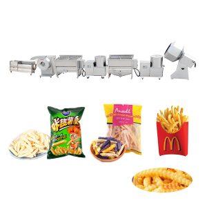 Semi-automatic frozen french fries making machine