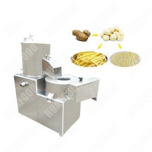 Multifunctional potato washing peeling and cutting machine