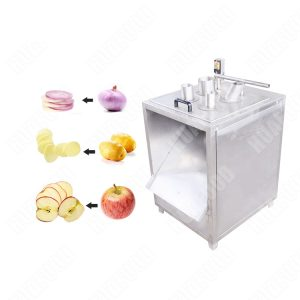 Small Onion Potato Chips Slicing Machine For Home