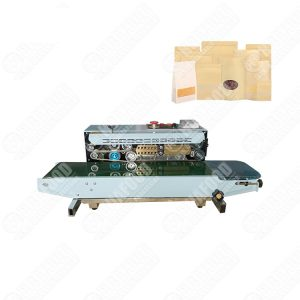 Stand type continuous band sealer sealing machine